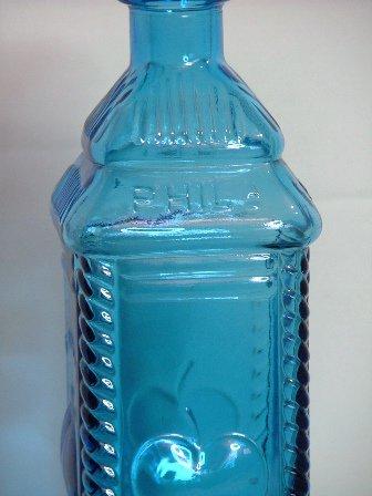 Wheaton Glass Blue Berring's Apple Bitters