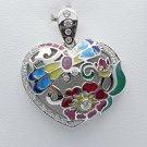 Handmade enameling heart fashion pendant sterling silver