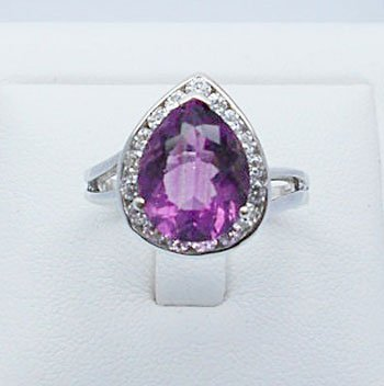 3.98ct Pink Fluorite lady ring sterling silver
