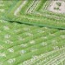 Queen/King Handmade Cotton Quilt + Shams-Mint Green