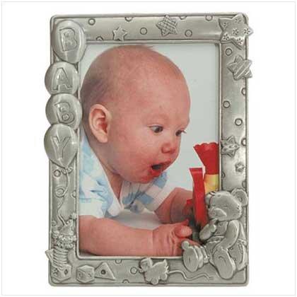 5 x 7 PEWTER FINISH BABY FRAME