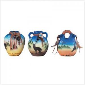 3 PC 4 Mini So. West Paint Vase