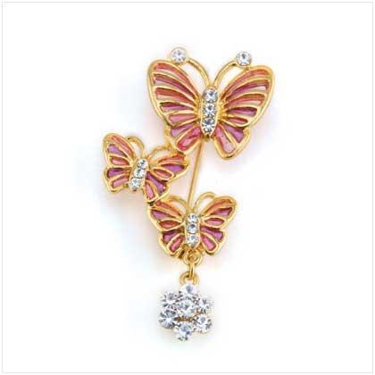 Triple Butterflies Pin