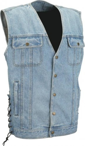 Denim Classic Motorcycle Vest