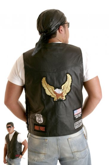 SOLID LEATHER Vest