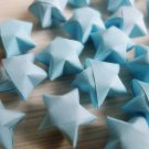 100 Origami Stars - Light blue