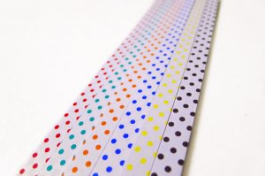 Origami Star Paper Polka Dots Pattern Pearl Luster DIY - 90 Strips (10mm)