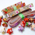 Washi Chiyogami Origami Lucky Star Paper Strips Assorted Design - Pack of 50 strips