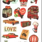 Retro Decorative Sticker Laptop Suitcase Sticker Masking Sticker - 1 Sheet 12 Pcs