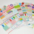 6 Sheets Rainbow Diary Decor Sticker Set Drawing Market Sticker