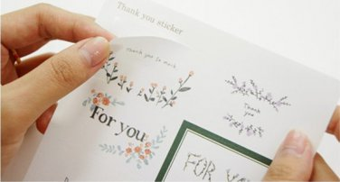6 Sheets For You Deco Sticker Set for Scrapbooking, Gift Wrapping, Sealing Envelopes, Packaging