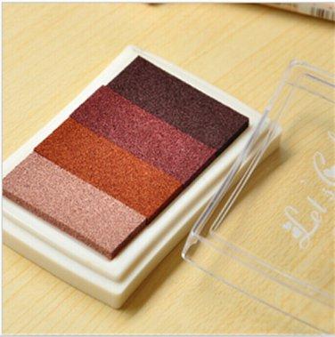 Brown Stamp Ink Pad - Gradient Color Print Ink Pad - DIY Oil Based Print Craft Pad