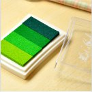 Green Stamp Ink Pad - Gradient Color Print Ink Pad - DIY Oil Based Print Craft Pad