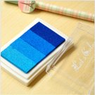 Blue Stamp Ink Pad - Gradient Color Print Ink Pad - DIY Oil Based Print Craft Pad