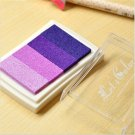 Purple Stamp Ink Pad - Gradient Color Print Ink Pad - DIY Oil Based Print Craft Pad