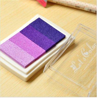 Purple Stamp Ink Pad - Gradient Color Print Ink Pad - DIY Oil Based Print Craft Pad