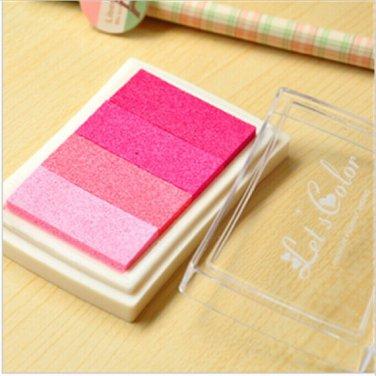 Pink Stamp Ink Pad - Gradient Color Print Ink Pad - DIY Oil Based Print Craft Pad