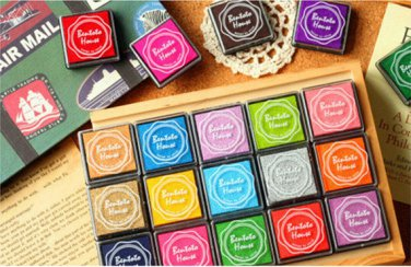 20 Colors Fingerprint Wedding Tree Ink Pad - Craft Colorful Ink Pad - Fingerprint Inks