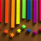 Bright Colors Origami Lucky Star Paper Strips Rainbow Multicolor DIY - Pack of 100 Strips