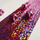 Holographic Glitter Pink Origami Lucky Star Paper Strips Star Folding DIY - Pack of 35 Strips