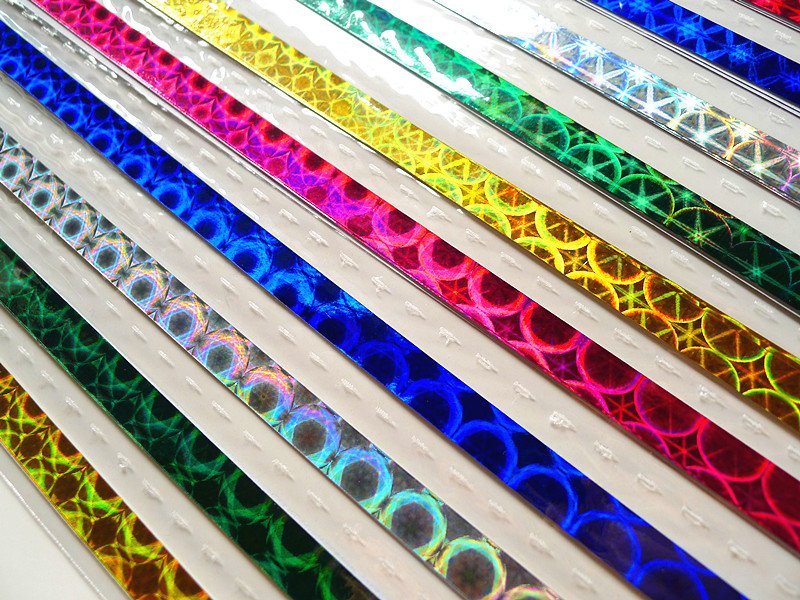 Origami Lucky Star Paper Strips Hologram Gemstone Star Folding - Pack of 50 Strips