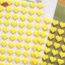 Mini Heart Felt Sticker Set - 2 Sheets,168 Pcs,Red Heart Shape