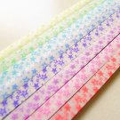 Starry Night Vellum Glow in the Dark Origami Lucky Star Paper Strips - Pack of 240 Strips