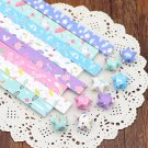 Origami Lucky Star Paper Strips Umbrella Mixed Designs Star Foldng DIY - Pack of 80 Strips