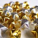 100 Sparkling Gold And Silver Origami Stars - Metallic Wishing Stars/Embellishment/Home Decor