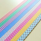 Heart Floral And Dots Origami Lucky Star Paper Strips Gift Folding DIY - Pack of 80 Strips