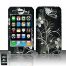 Hard Rubber Feel Design Case for Apple iPhone 3G/3Gs - Midnight Garden
