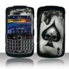 Hard Rubber Feel Design Case for Blackberry Bold 9700/9780 - Spade Skull