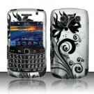 Hard Rubber Feel Design Case for Blackberry Bold 9700/9780 - Black Vines