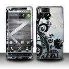 Hard Rubber Feel Design Case for Motorola Droid X MB810 (Verizon)/Milestone X - Black Vines