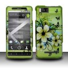 Hard Rubber Feel Design Case for Motorola Droid X MB810 (Verizon)/Milestone X - Hawaiian Flowers