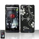 Hard Rubber Feel Design Case for Motorola Droid X MB810 (Verizon)/Milestone X - Midnight Garden