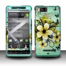 Hard Rubber Feel Design Case for Motorola Droid X MB810 (Verizon)/Milestone X - Natural Flowers