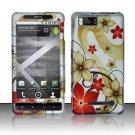 Hard Rubber Feel Design Case for Motorola Droid X MB810 (Verizon)/Milestone X - Red Flowers