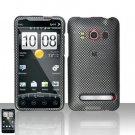 Hard Rubber Feel Design Case for HTC EVO 4G (Sprint) - Carbon Fiber