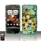 Hard Rubber Feel Design Case for HTC DROID Incredible (Verizon) - Natural Flowers