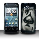 Hard Rubber Feel Design Case for HTC EVO Shift 4G - Spade Skull