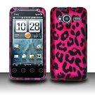 Hard Rubber Feel Design Case for HTC EVO Shift 4G - Pink Leopard