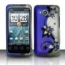 Hard Rubber Feel Design Case for HTC EVO Shift 4G - Purple Vines