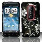 Hard Rubber Feel Design Case for HTC EVO 3D (Sprint) - Midnight Garden