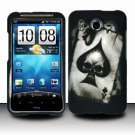Hard Rubber Feel Design Case for HTC Inspire 4G/Desire HD - Spade Skull