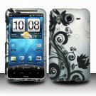 Hard Rubber Feel Design Case for HTC Inspire 4G/Desire HD - Black Vines