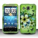 Hard Rubber Feel Design Case for HTC Inspire 4G/Desire HD - Hawaiian Flowers