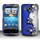 Hard Rubber Feel Design Case for HTC Inspire 4G/Desire HD - Purple Vines