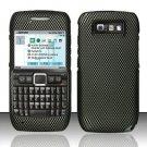 Hard Rubber Feel Design Case for Nokia E71 - Carbon Fiber