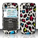 Hard Rubber Feel Design Case for Nokia E71 - Colorful Leopard